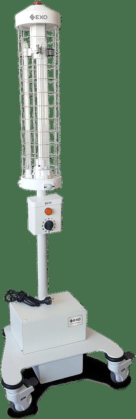 Unidad móvil germicida luz ultravioleta ANDES UV-165 EXO