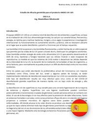 Estudio de eficacia germicida para el producto ANDES UV-165