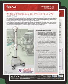 tapa Brochure Unidad Germicida Andes-165 EXO por emisión de luz UVGI