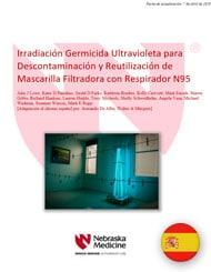 Irradiación Germicida Ultravioleta para Descontaminación y Reutilización de Mascarilla Filtradora con Respirador N95