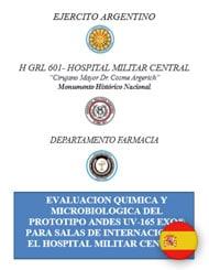 Evaluación química y microbiológica del prototipo Andes UV-165 EXO para salas de Internación en el Hospital Militar Central