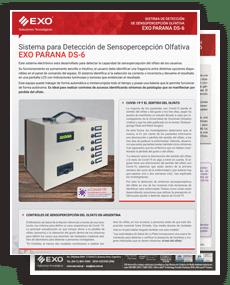 tapa brochure Detector de Sensopercepción Olfativa Paraná DS-6 EXO