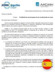 Comunicado ASHRAE Argentina