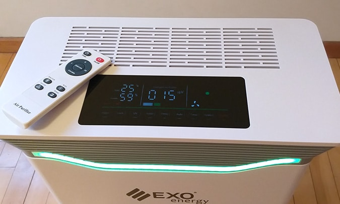 purificador de ar com controle remoto