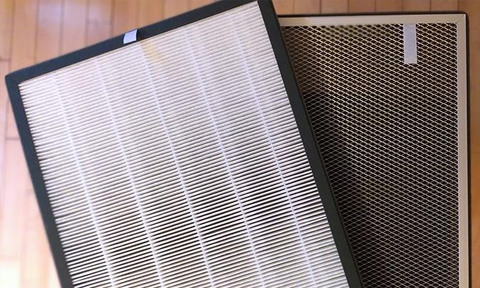 pré-filtro e filtro HEPA composto