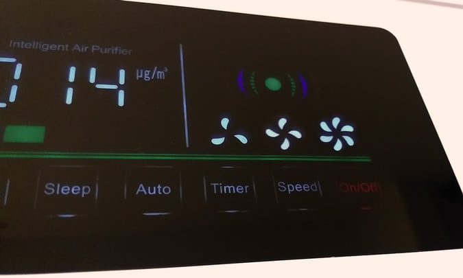 purificador de ar com 3 velocidades